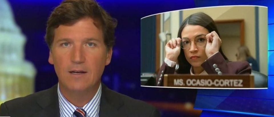 Tucker Carlson says Ocasio-Cortez could win presidency if wealth gap keeps expanding (Fox News screengrab)