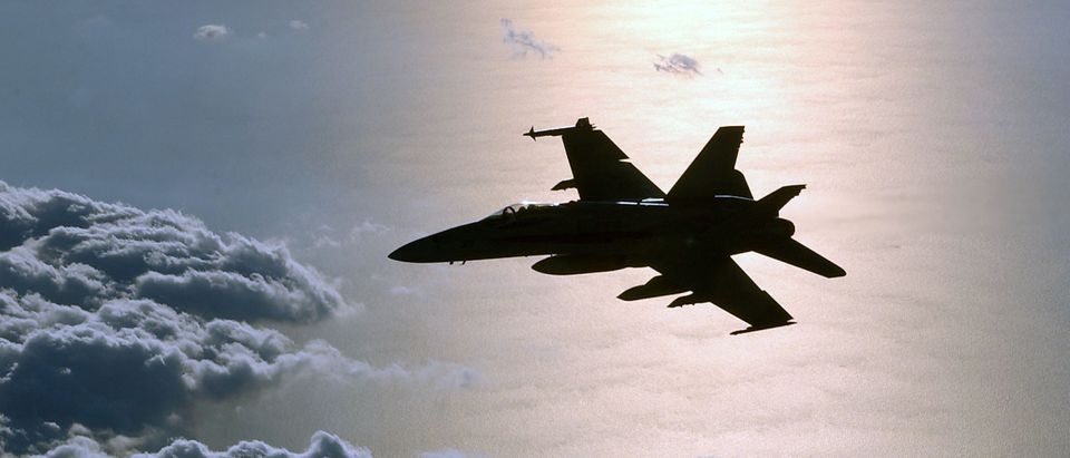 U.S. Military Jet Patrols Eastern Mediterranean Sea