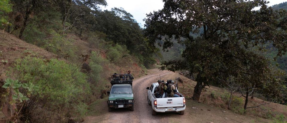 """The Wider Image: """"Under siege"""": Inside Mexican village where children are armed"""
