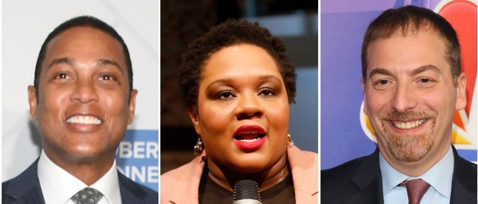 """Politico has chosen some of media's most left-wing darlings as """"Playbook"""" guest writers. (Dia Dipasupil/Getty Images, Thos Robinson/Getty Images for New York Times, JB Lacroix/Getty Images)"""