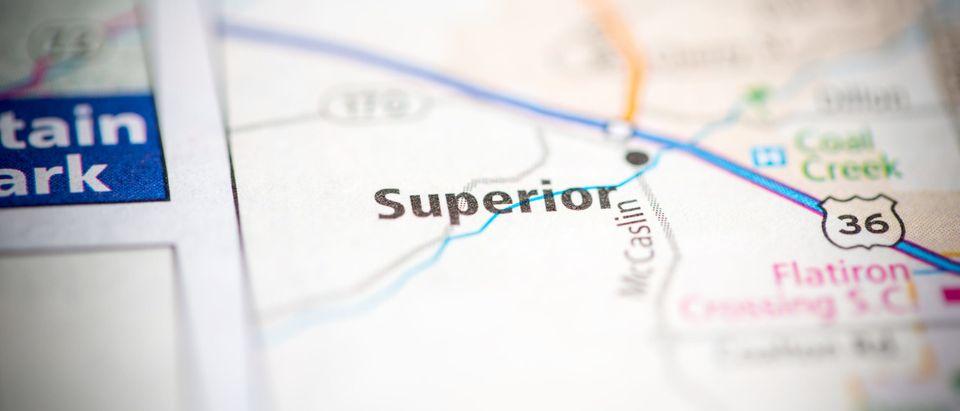 Superior, Colorado, USA on map