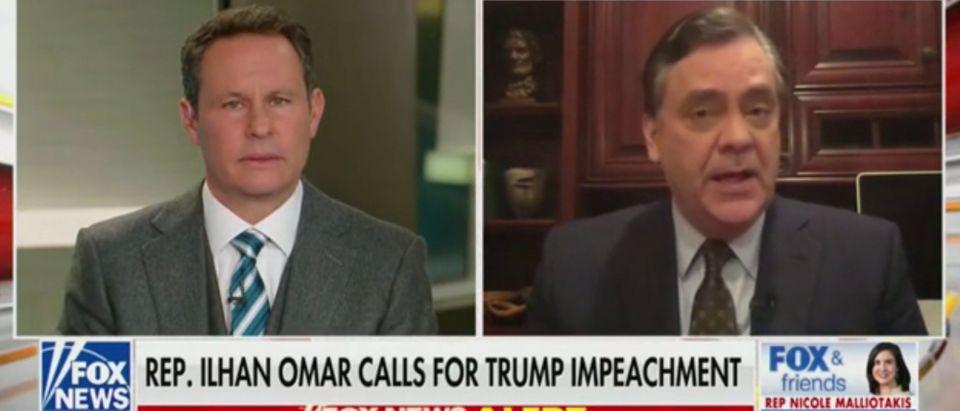 Fox News host Brian Kilmeade talks to George Washington University professor Jonathan Turley