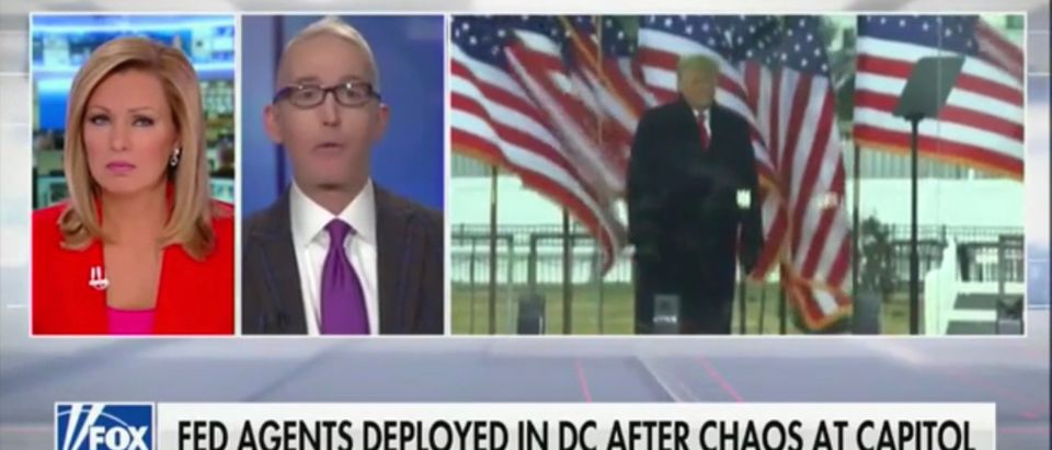 Fox News host Sandra Smith talks to former Rep. Trey Gowdy (R-SC) about Wednesday's Capitol Hill riot