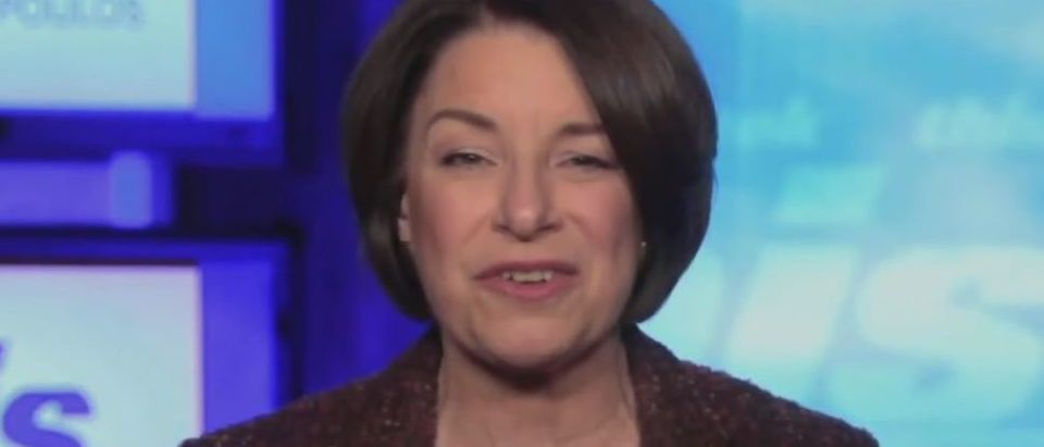 Amy Klobuchar says Trump sent 'angry mob' (ABC screengrab)