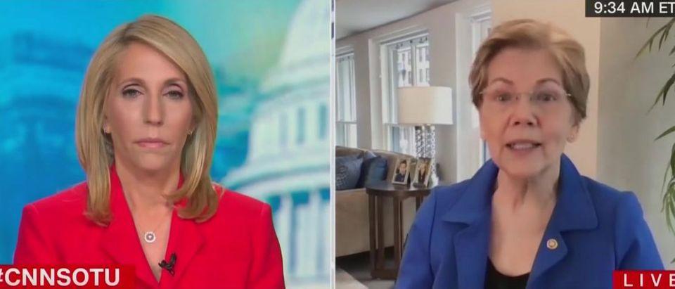 Elizabeth Warren discusses stock market (CNN screengrab)