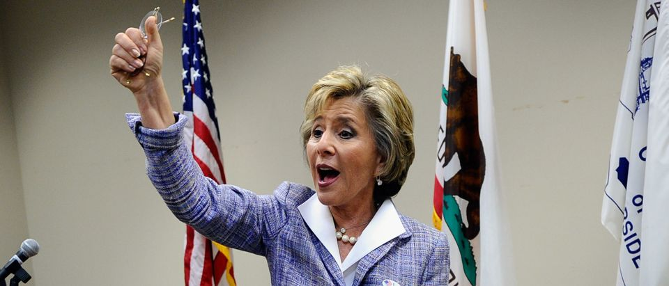 Sen. Boxer Casts Her Vote During Early Voting For The Midterm Elections