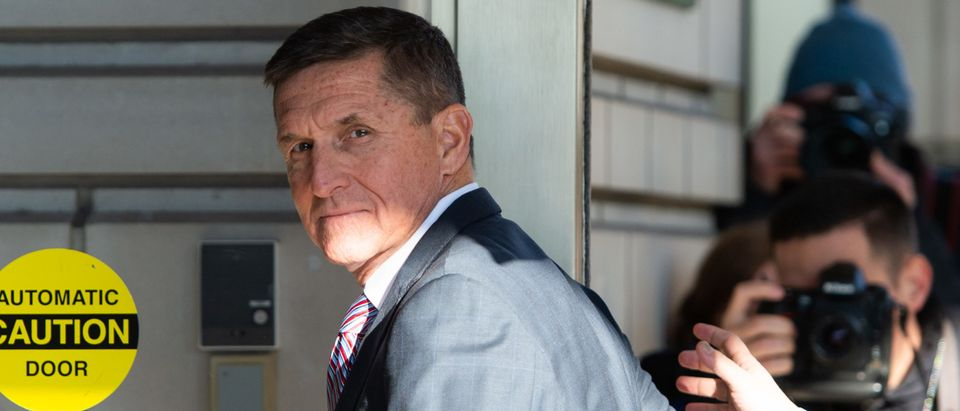Former US National Security Advisor General Michael Flynn arrives for his sentencing hearing at US District Court in Washington, DC on December 18, 2018. (Photo by Saul Loeb/AFP via Getty Images)