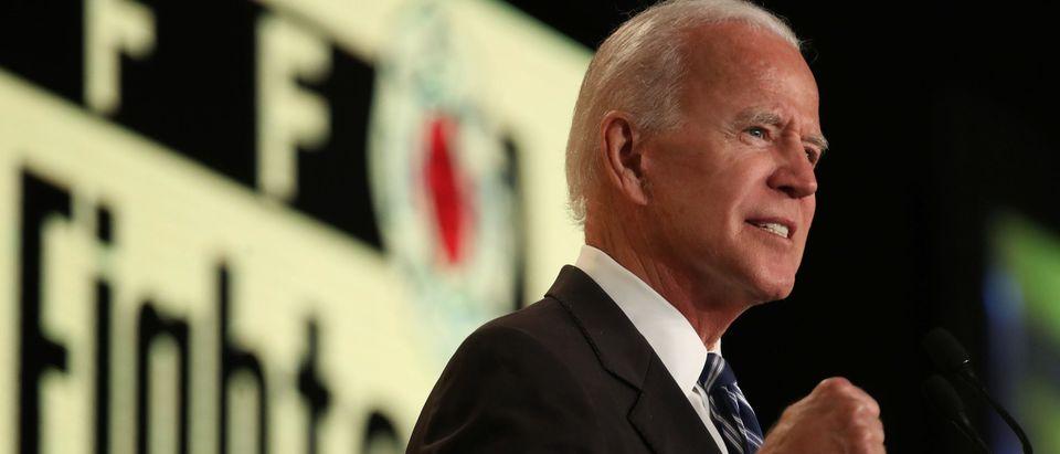 Former VP Joe Biden Addresses Int'l Association Of Fire Fighters Conference