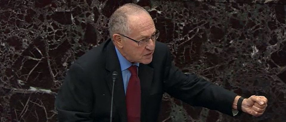 Alan Dershowitz at Senate impeachment proceedings in the Senate
