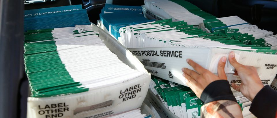 Utah County Officials Pick Up Early Voting Ballots From Dropboxes For Processing