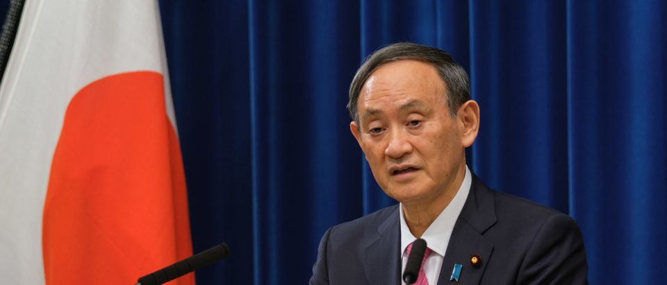 Japan's Prime Minister Suga Gives Update On Coronavirus Situation