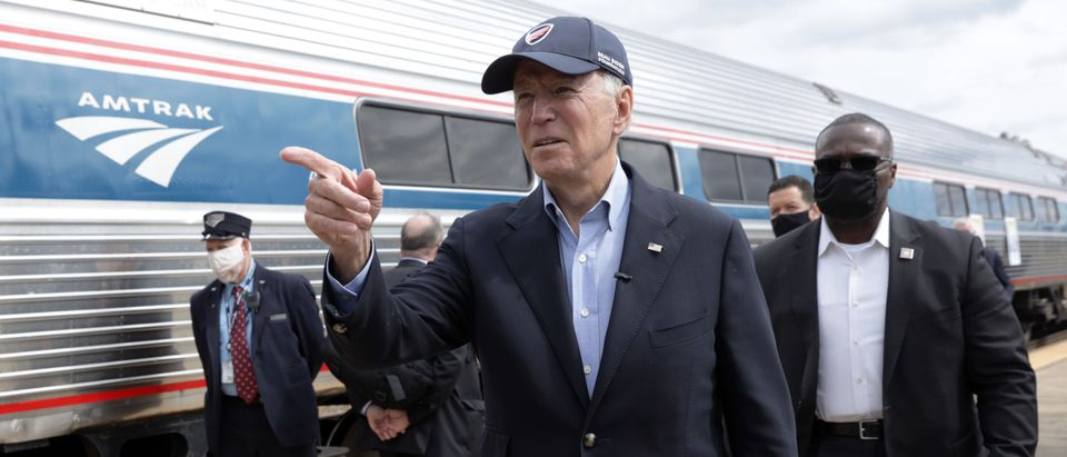Joe Biden Holds Train Campaign Tour Of OH And PA.