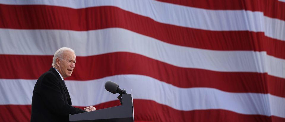 "President-Elect Joe Biden Speaks At The Major Joseph R. ""Beau"" Biden III National Guard Reserve Center In Wilmington, Delaware"