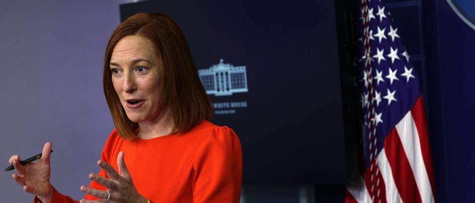 White House Press Secretary Jen Psaki Holds News Briefing At White House