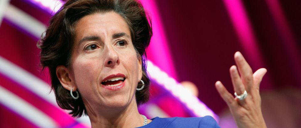 WASHINGTON, DC - OCTOBER 13: Governor of Rhode Island Gina Raimondo speaks onstage during Fortune's Most Powerful Women Summit - Day 2 at the Mandarin Oriental Hotel on October 13, 2015 in Washington, DC. (Paul Morigi/Getty Images for Fortune/Time Inc)