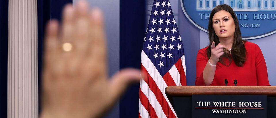 White House Press Secretary Sarah Sanders Holds Daily Press Briefing
