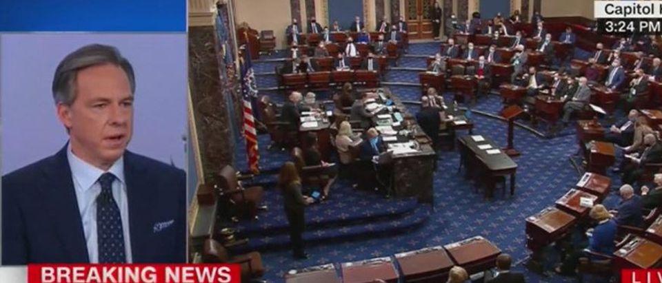 Jake Tapper rips Republicans against impeachment (CNN screengrab)