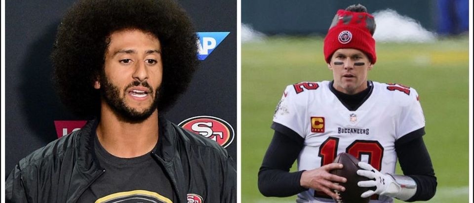 Colin Kaepernick, Tom Brady (Credit: Getty Compilation)