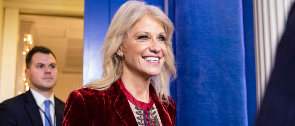 White House Advisor Kellyanne Conway Speaks To The Media At The White House