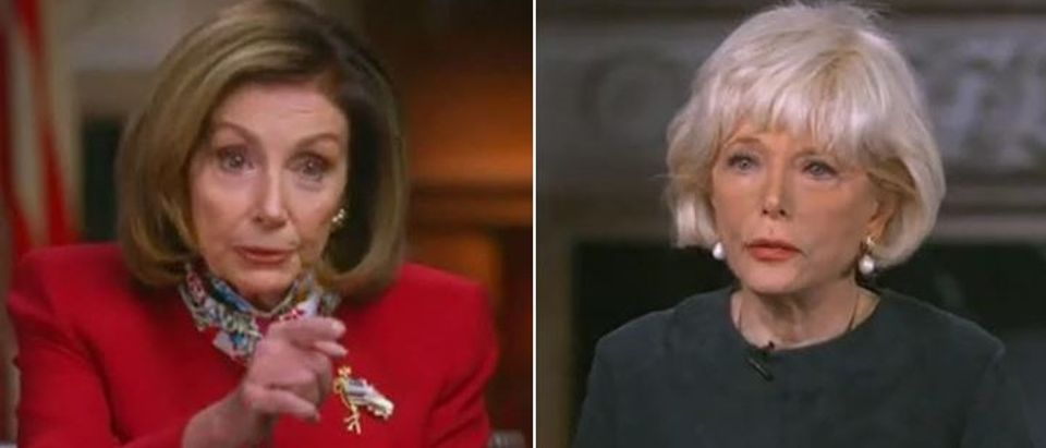 Lesley Stahl calls out Pelosi on COVID relief (CBS screengrab)