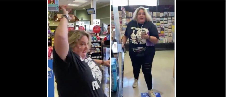 Maskless Punch (Credit: Screenshot/Twitter Videos https://twitter.com/SamBraslow/status/1345917062208573440/https://twitter.com/SamBraslow/status/1345916985926795270)