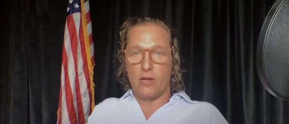 Matthew McConaughey (Credit: Screenshot/YouTube https://youtu.be/CJWYEawEsGo)