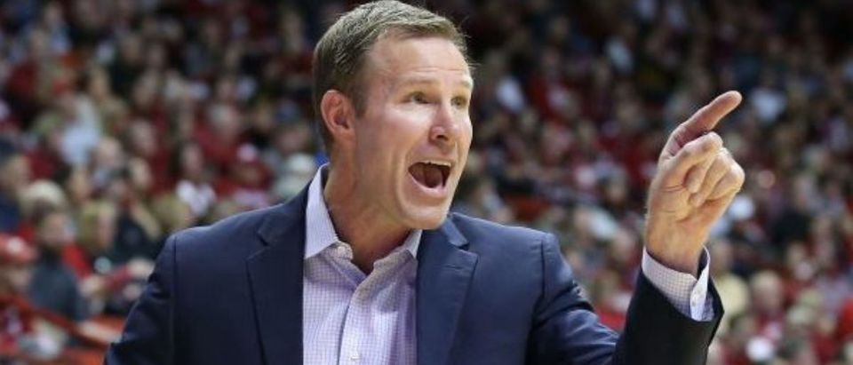 BLOOMINGTON, INDIANA - DECEMBER 13: Fred Hoiberg the head coach of the Nebraska Cornhuskers gives instructions to his team against the Indiana Hoosiers at Assembly Hall on December 13, 2019 in Bloomington, Indiana. (Photo by Andy Lyons/Getty Images)