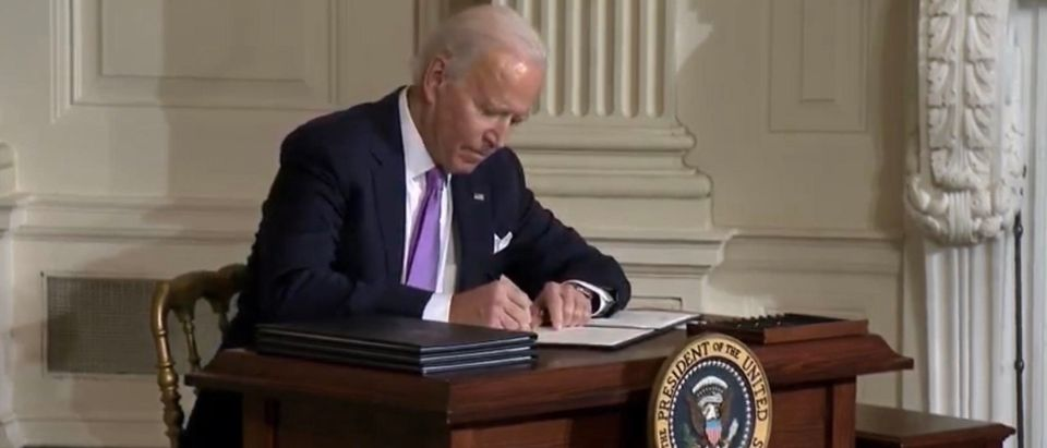 President Joe Biden. (Screenshot/Youtube/White House)
