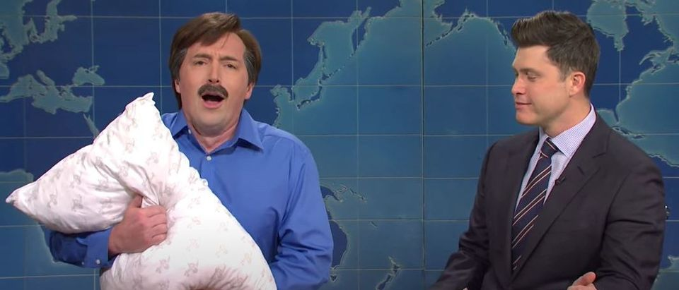 SNL spoofs Mike Lindell (YouTube screengrab)