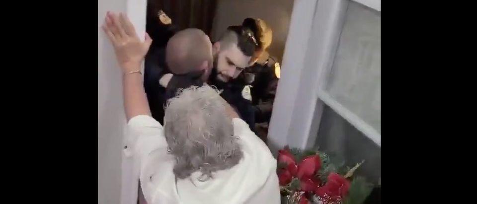 Quebec New Year's Eve Crackdown (Credit: Screenshot/Twitter Video https://twitter.com/disclosetv/status/1345413604787544066?s=20)