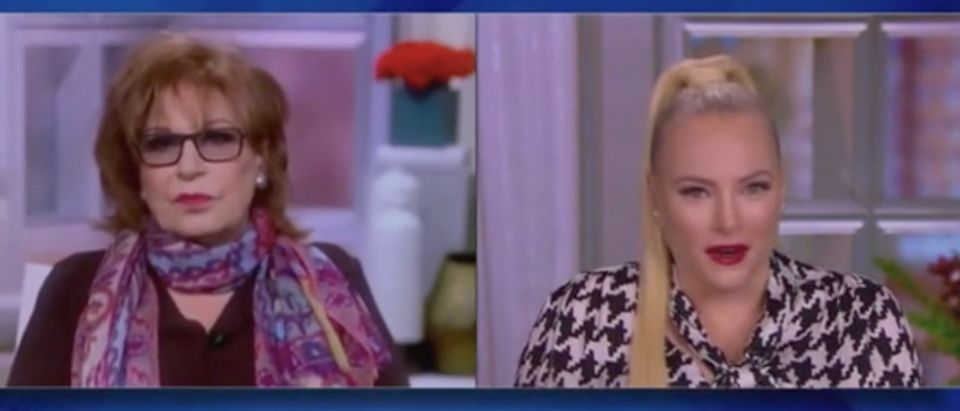 "Joy Behar and Meghan McCain appear on ""The Views."" Screenshot/ABC"