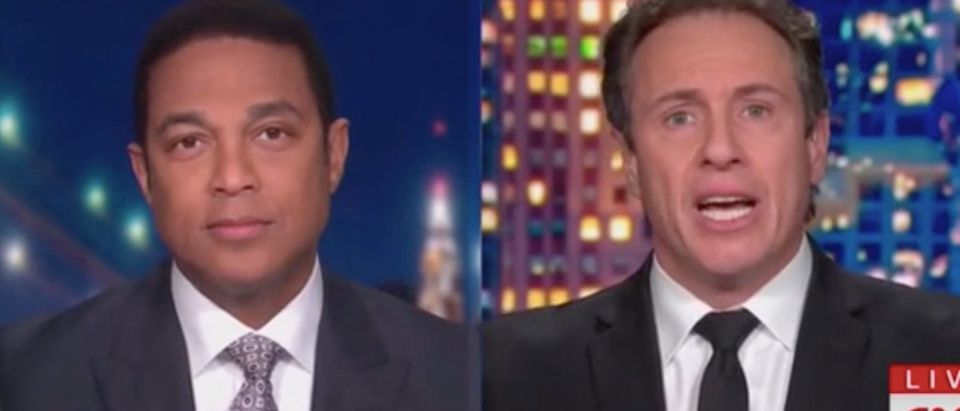 Don Lemon and Chris Cuomo appear on CNN. Screenshot/CNN