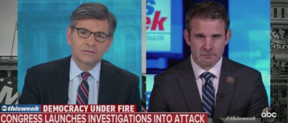 Rep. Adam Kinzinger speaks to George Stephanopoulos (Screenshot/ABC)
