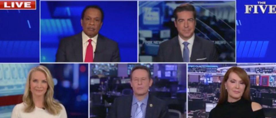 Juan Williams, Jesse Watters, Dagen McDowell, Brian Kilmeade, Dana Perino (Screenshot/Fox News)