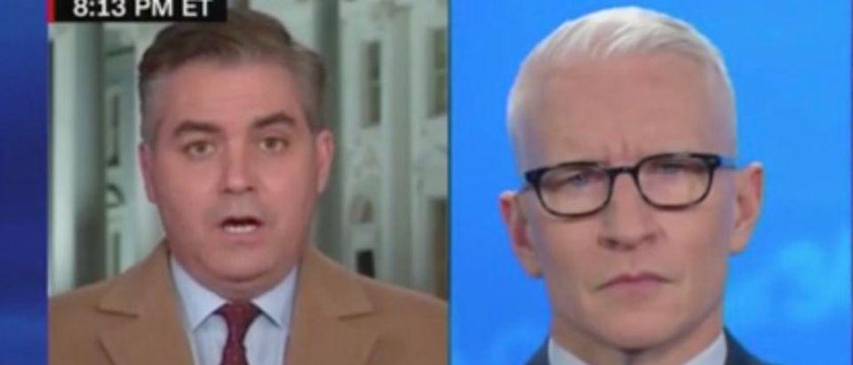 Jim Acosta and Anderson Cooper (Screenshot/CNN)