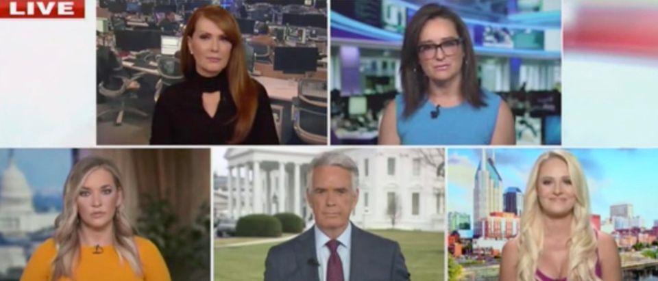 Dagen McDowell, Lisa Kennedy, Tomi Lahren, John Roberts, Katie Pavlich (Screenshot/Fox News)
