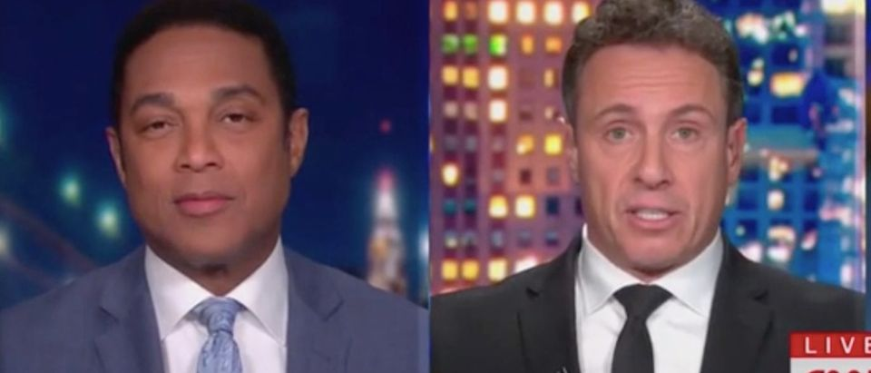 "Don Lemon and Chris Cuomo appear on ""CNN Tonight."" Screenshot/CNN"