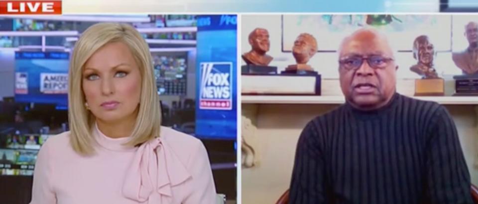 Sandra Smith and Rep. James Clyburn (Screenshot/Fox News)