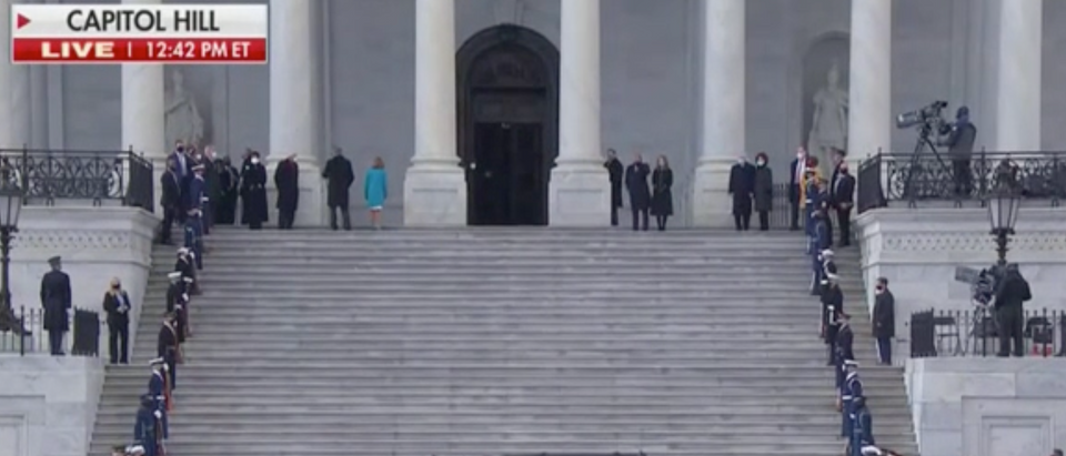 U.S. Capitol before the departure of former Vice President Mike Pence (Screenshot/Fox News)