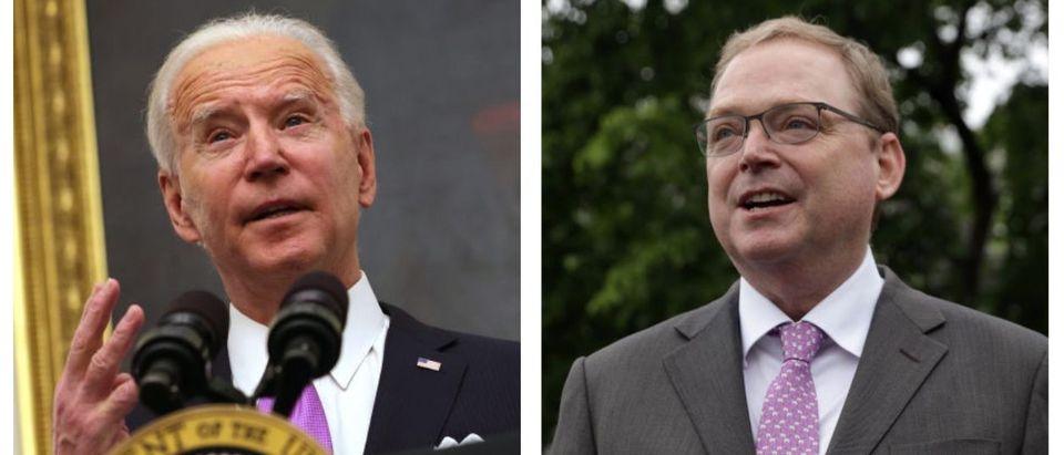 Joe Biden, Kevin Hassett (Getty Images)