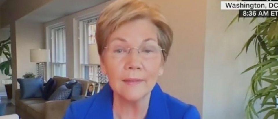"Sen. Elizabeth Warren appears on ""Inside Politics Sunday.""Screenshot/CNN"