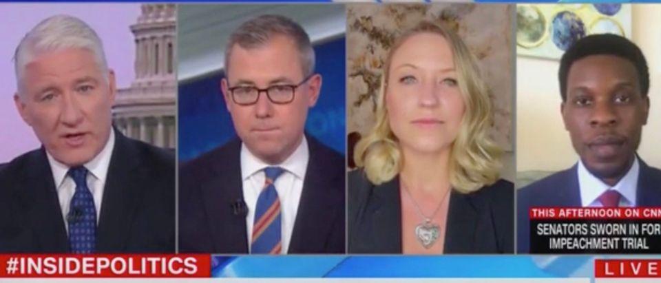 John King, Jeff Zeleny, Rachael Bade, and Toluse Olorunnipa (Screenshot/CNN)