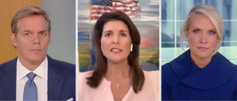 Bill Hemmer, Nikki Haley, and Dana Perino (Screenshot/Fox News)