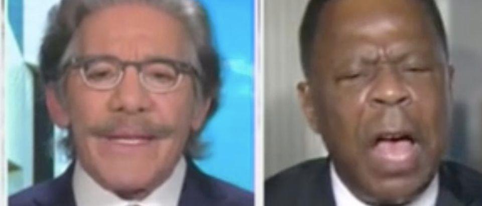 "Geraldo Rivera and Leo Terrell appear on ""America's Newsroom."" Screenshot/Fox News"
