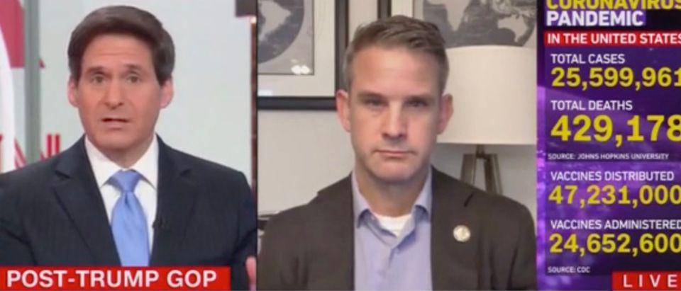 John Berman and Rep. Adam Kinzinger (Screenshot/CNN)