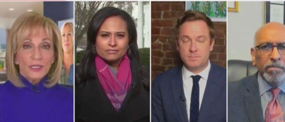 Andrea Mitchell, Kristen Welker, Jonathan Lemire, and Michael Steele (Screenshot/MSNBC)