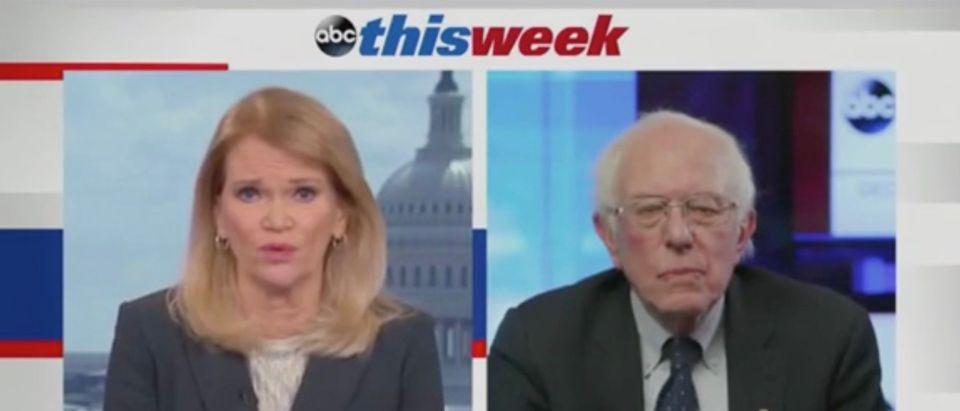 Martha Raddatz and Sen. Bernie Sanders (Screenshot/ABC)