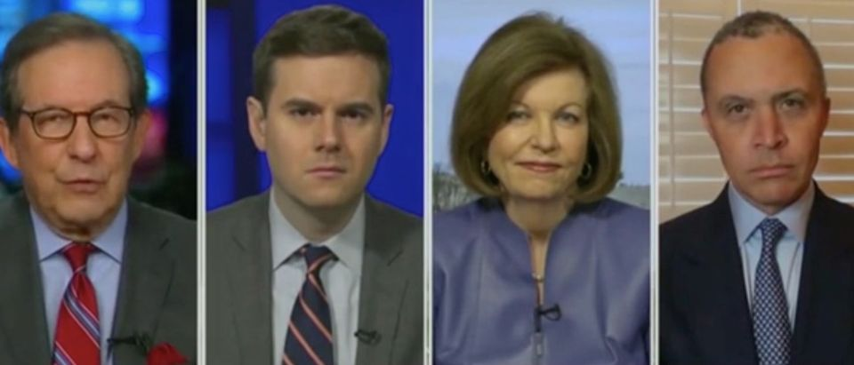 "Chris Wallace hosts panel discussion on ""Fox News Sunday."" Screenshot/FOX"
