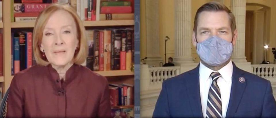 Screen Shot_Youtube_PBS News_Eric Swalwell compares Trump to Osama Bin Laden