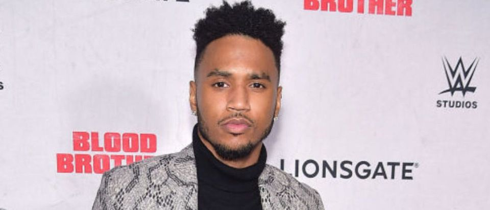 "NEW YORK, NY - NOVEMBER 29: Trey Songz attends the ""Blood Brother"" New York Screening at Regal Battery Park 11 on November 29, 2018 in New York City. (Photo by Theo Wargo/Getty Images)"